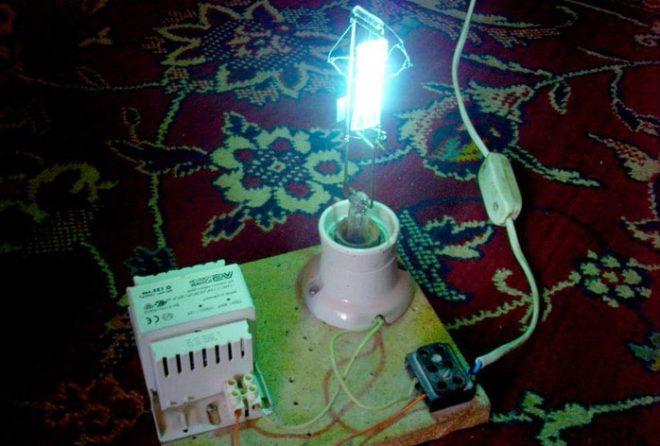Самодельная ультрафиолетовая лампа