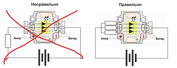 Подключение светодиода 5050