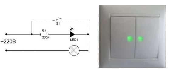 подсветка выключателя светодиодом своими руками
