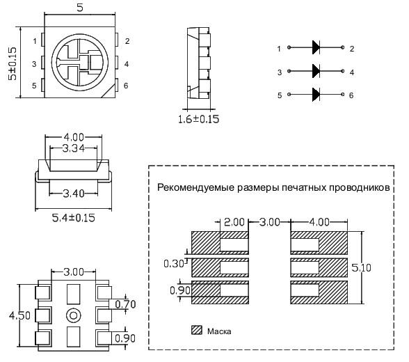 Типоразмеры SMD 5050