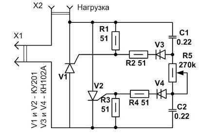 Диммер 220В с нагрузкой до 2А