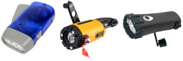 Бытовой фонарик со встроенным генератором