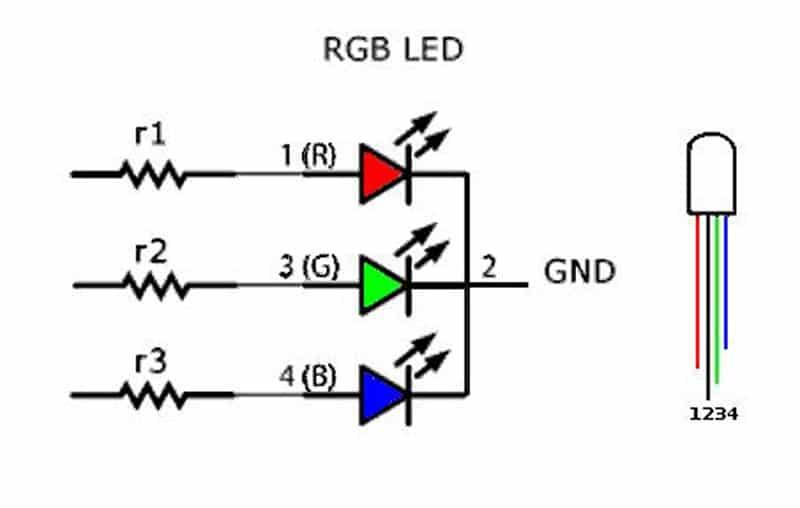 Конструкция разноцветного светодиода
