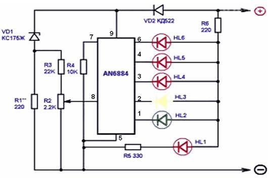 Индикатор заряда АКБ на компараторе напряжения