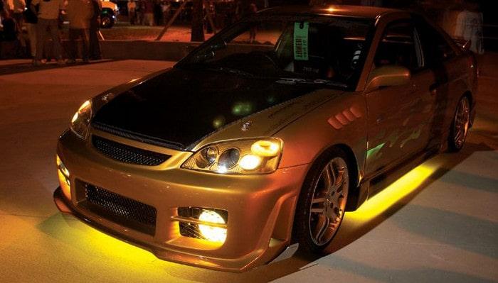 Подсветка в салоне машины своими руками