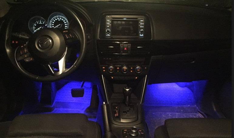 Подсветка ног в автомобиле