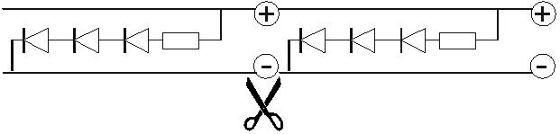 Принципиальная схема LED