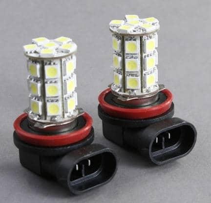 Сравнение светодиодных ламп H8 и H11