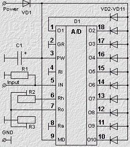 Тестер малогабаритных аккумуляторов или батареек