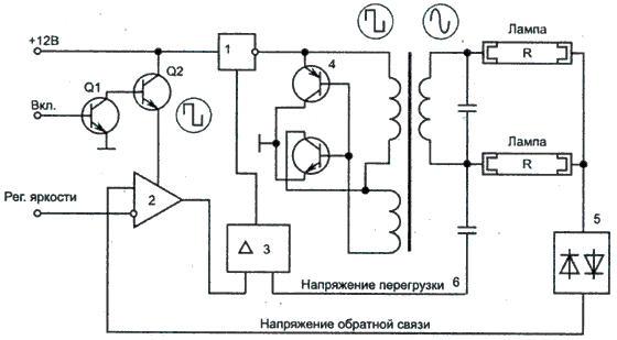 Схема подключения CCFL в ЖК