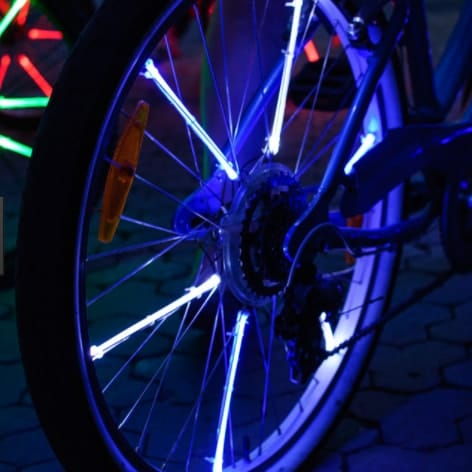 Подсветка спиц велосипеда