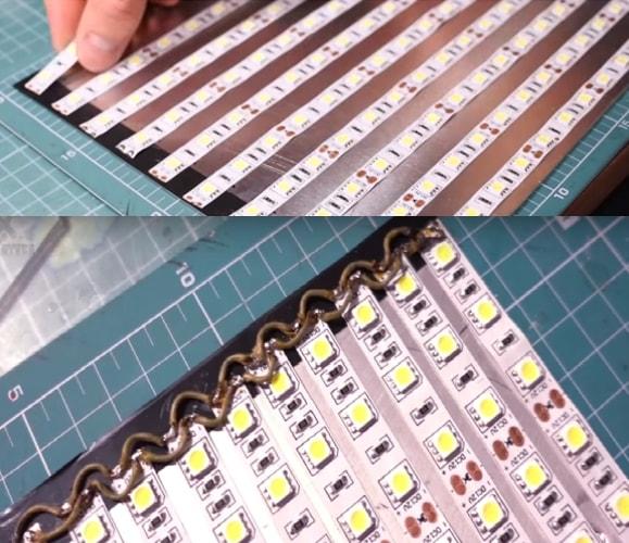 Изготовление диодной панели на алюминиевой основе