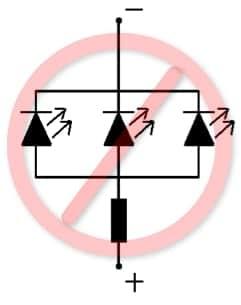 Не правильное подключение резистора