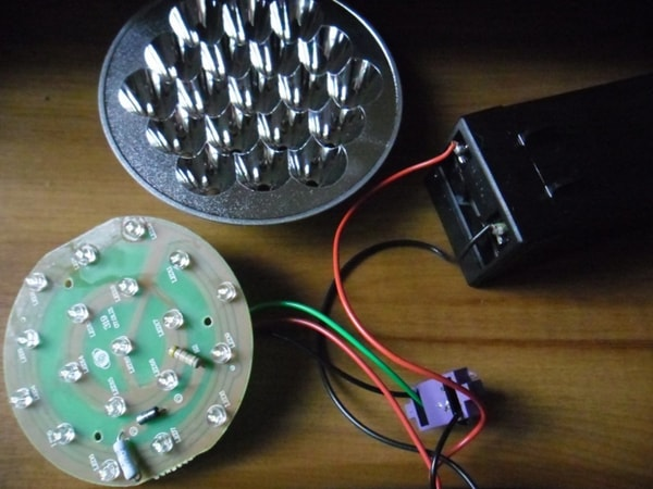 Проверка светодиодов в фонарике