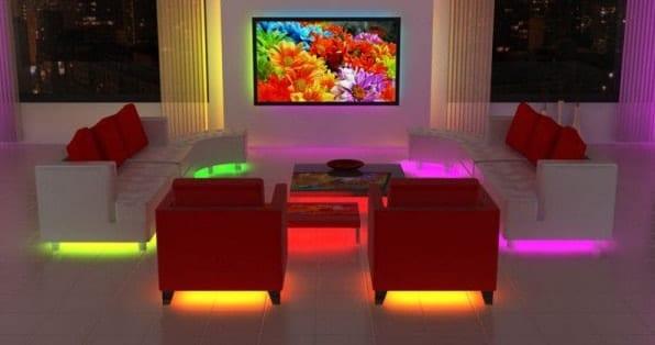Подсветка RGB лентой