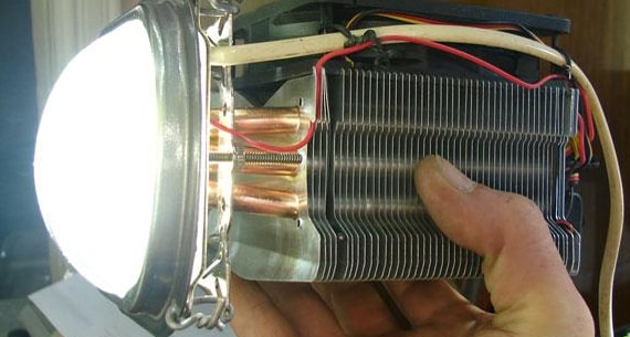 Самодельный радиатор для светодиодов