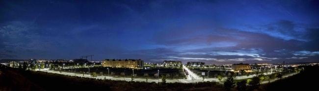 Ночной город Гвадалахара