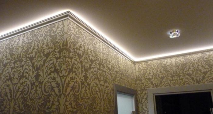 Светодиодная подсветка карниза потолка