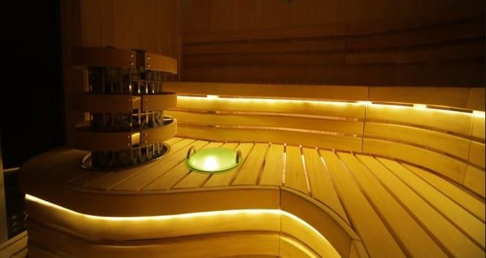 Светодиодная подсветка в бане