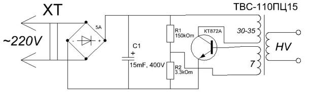 Обобщенная схема блокинг-генератора