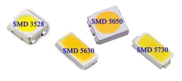 Технические характеристики SMD 3528, 5630, 5050, 5730