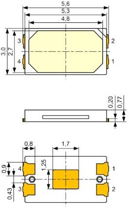 Типоразмеры SMD 5630